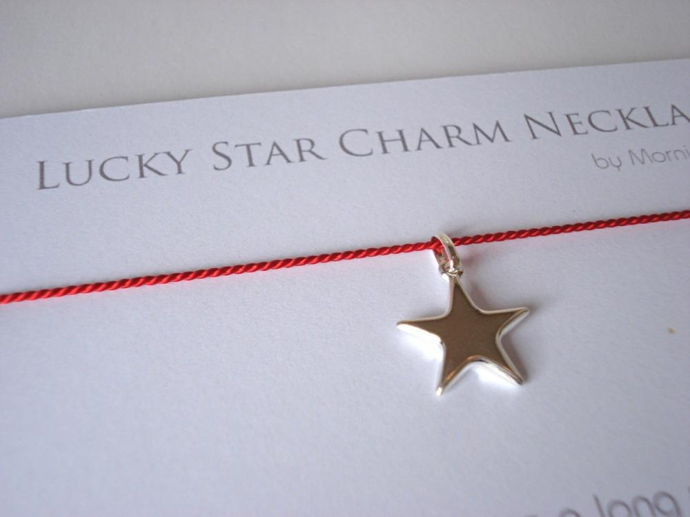 Lucky in love. RED lucky star necklace